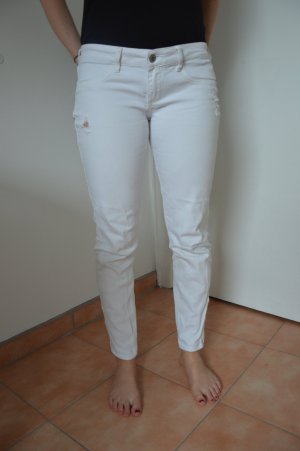 Hollister Jeans - 7R in Weiß used look - low rise
