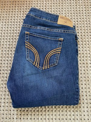 Hollister Jeansy biodrówki niebieski-brązowy