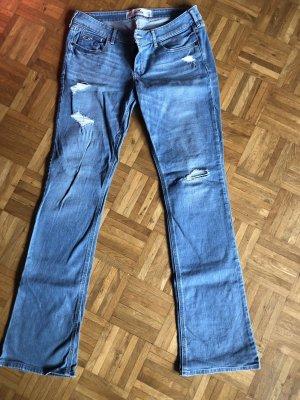 Hollister Jeansy z prostymi nogawkami jasnoniebieski-błękitny