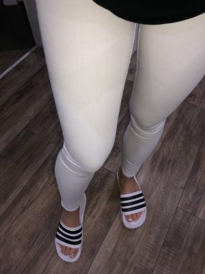 Hollister Jeans elasticizzati bianco