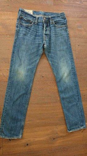 Hollister Jeansy z prostymi nogawkami niebieski Bawełna