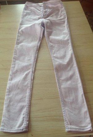 Hollister Hoge taille jeans lichtroze Gemengd weefsel