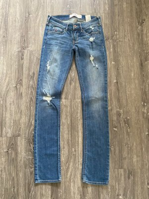 Hollister Jeans Hellblau Destroyed Style