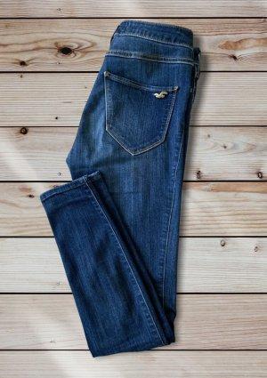 Hollister Pantalone a vita alta blu-blu scuro