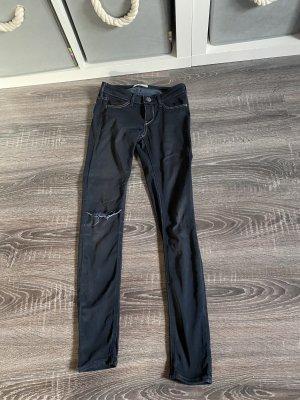 Hollister Jeans hose schwarz dunkelblau w23 l29 Skinny röhrenjeans