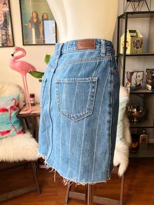 Hollister Denim Skirt light blue-white