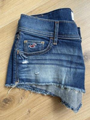 Hollister Pantaloncino di jeans blu scuro-blu acciaio Cotone