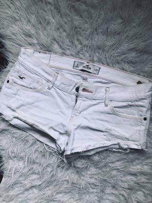 Hollister Jeans Shorts weiß