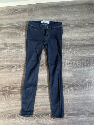 Hollister Jeans a sigaretta blu scuro-blu