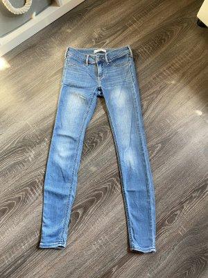 Hollister Jeans skinny Stretch röhrenjeans Hose hellblau blau w23 l27