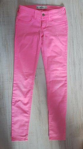 Hollister Jeans W23 L29 - neonpinke Jeans - Skinny Jeans - pinke Röhrenjeans