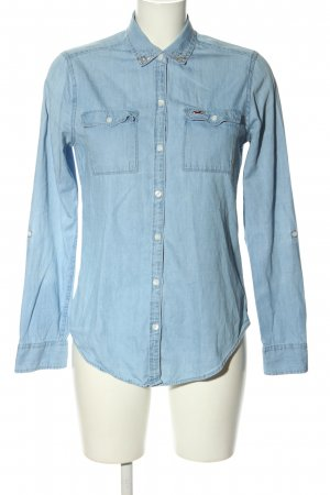 Hollister Jeansbluse blau Casual-Look