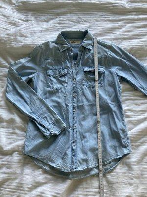 Hollister Jeansowa koszula szary niebieski-niebieski