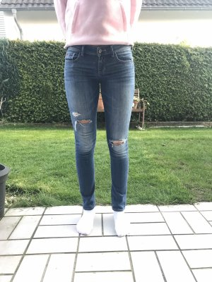 Hollister Low-Rise Trousers blue