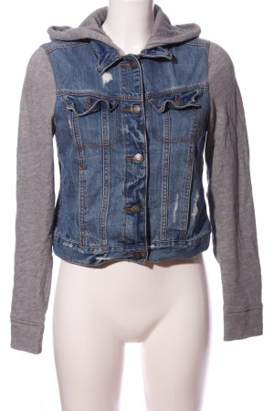 Hollister Veste en jean bleu-gris clair style décontracté