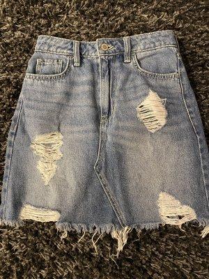 Hollister Jeansowa spódnica błękitny-baby blue