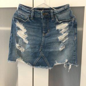 Hollister Gonna di jeans blu acciaio