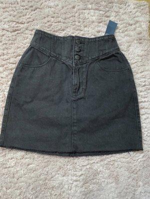 Hollister Jupe en jeans noir-gris anthracite