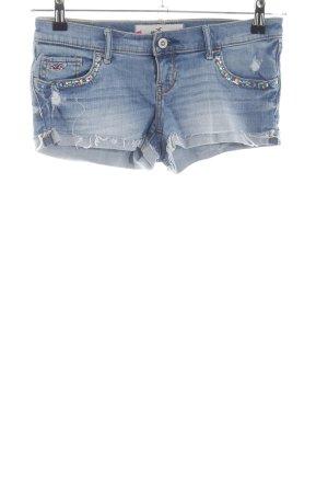 Hollister Short en jean bleu style décontracté