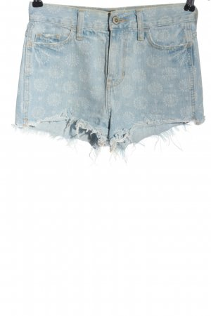 Hollister Jeansshorts blau Allover-Druck Casual-Look