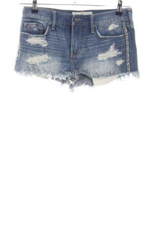 Hollister Short en jean bleu style mode des rues