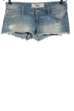 Hollister Jeansshorts blau Street-Fashion-Look
