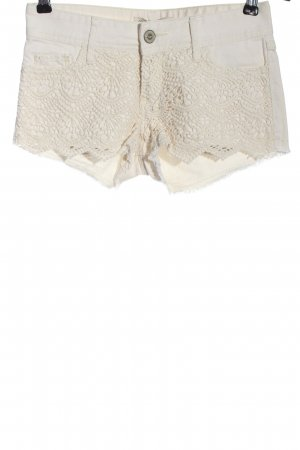 Hollister Jeansshorts wollweiß Casual-Look