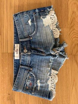 Hollister Denim Shorts blue-white
