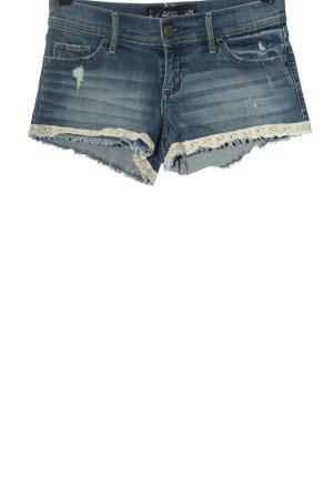 Hollister Jeansshorts blau-weiß Casual-Look