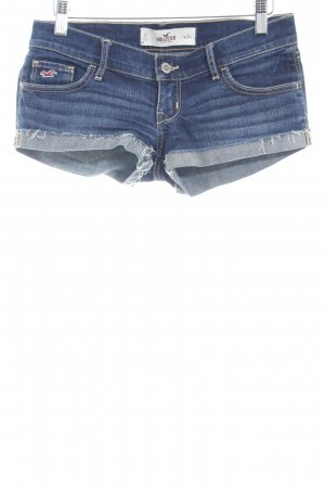 Hollister Jeansshorts dunkelblau-orange Jeans-Optik