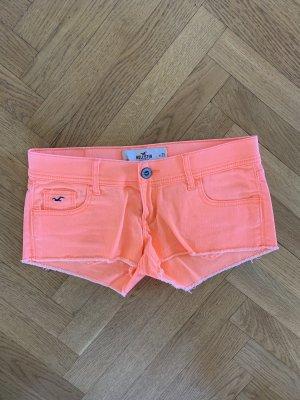 Hollister Jeansshorts neon orange