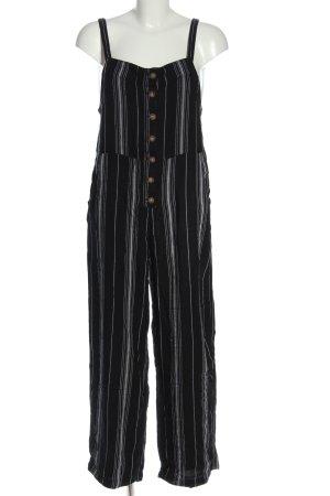 Hollister Jumpsuit schwarz-weiß Allover-Druck Casual-Look