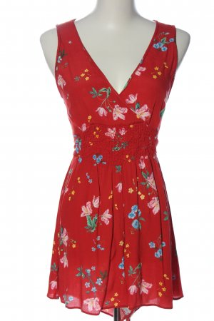 Hollister Cut-Out-Kleid rot-blau Allover-Druck Party-Look