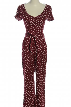 Hollister Jumpsuit rot-weiß Allover-Druck Casual-Look