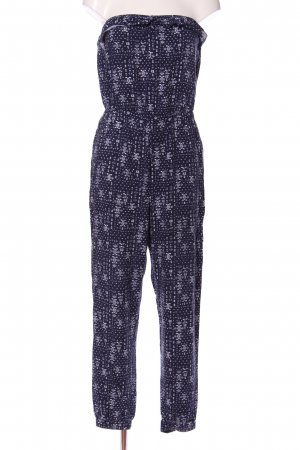 Hollister Jumpsuit blue-white allover print casual look