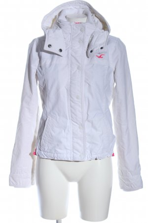 Hollister Giacca con cappuccio bianco caratteri ricamati stile casual