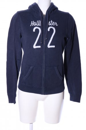 Hollister Hoody blue-white printed lettering casual look