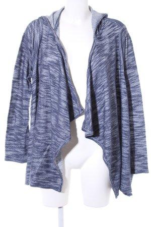 Hollister Kapuzenjacke stahlblau-weiß meliert Casual-Look