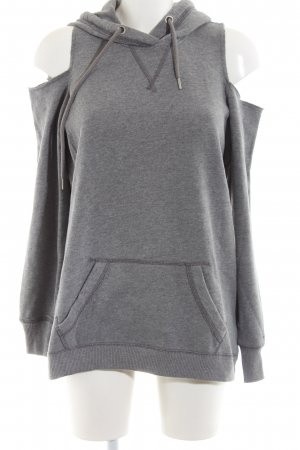 Hollister Hooded Sweater light grey flecked casual look