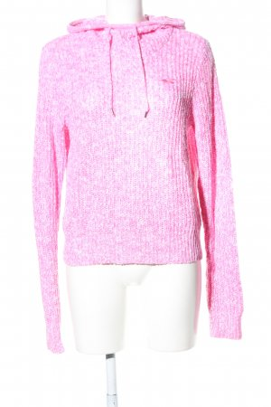 Hollister Hooded Sweater pink flecked casual look