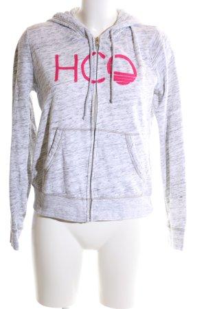 Hollister Kapuzenpullover hellgrau-pink meliert Casual-Look