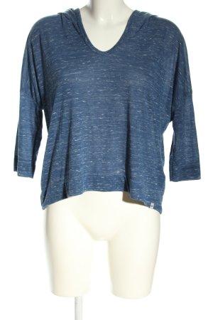 Hollister Shirt met capuchon blauw-wit gestippeld casual uitstraling