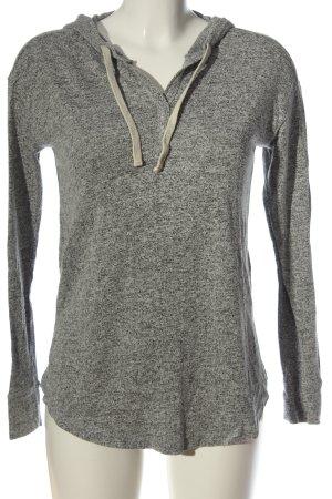 Hollister Camicia con cappuccio grigio chiaro puntinato stile casual