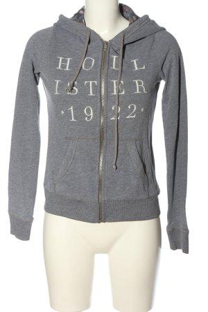 Hollister Kapuzensweatshirt hellgrau-wollweiß Motivdruck Casual-Look