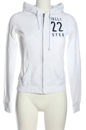 Hollister Kapuzensweatshirt weiß Schriftzug gedruckt Casual-Look