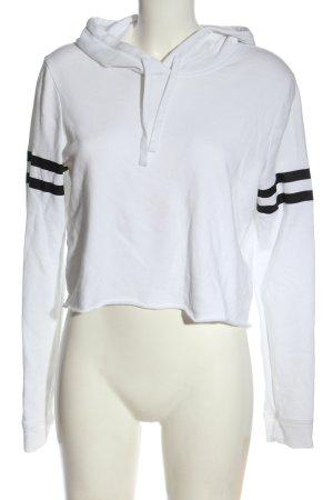 Hollister Kapuzensweatshirt weiß-schwarz Streifenmuster Casual-Look