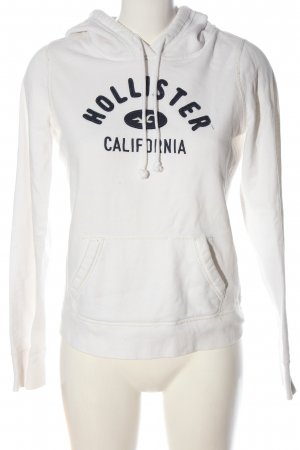 Hollister Kapuzensweatshirt weiß Casual-Look