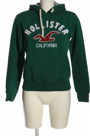 Hollister Kapuzensweatshirt grün Motivdruck Casual-Look