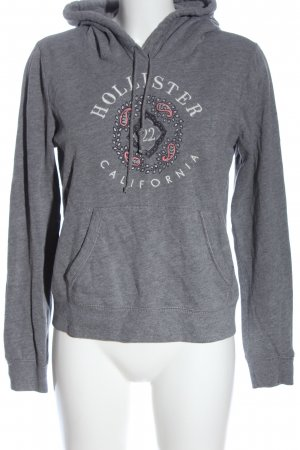 Hollister Kapuzensweatshirt Motivdruck Elegant