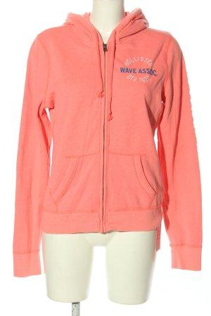 Hollister Kapuzensweatshirt pink Schriftzug gestickt Casual-Look
